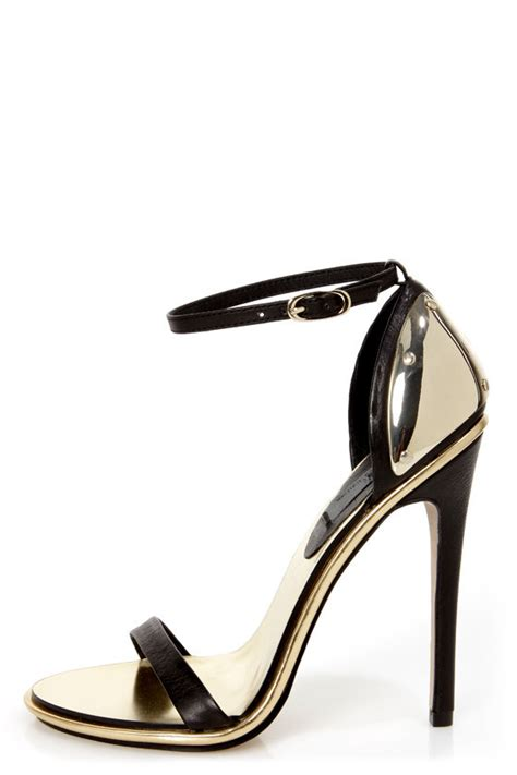black and gold high heel shoes limited edition lenny black gold plated high heel