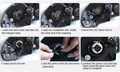 how to install led lights in car headlights chinese car parts 9005 6000k royal enfield headlight