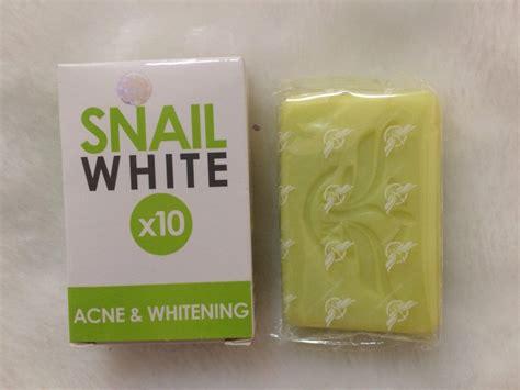 Snail White Thailand snail white soap x10 acne and whitening thailand