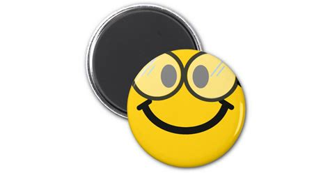 Smiley Aufkleber 1cm by Geeky Smiley Runder Magnet 5 1 Cm Zazzle
