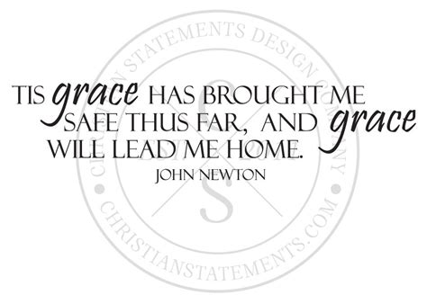 grace will lead me home vinyl wall statement vinyl quote013
