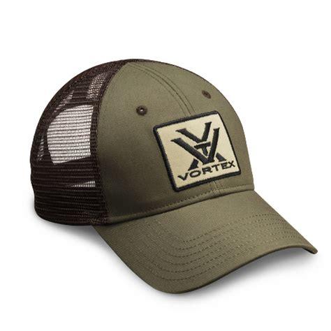 vortex optics vortex green and brown mesh cap