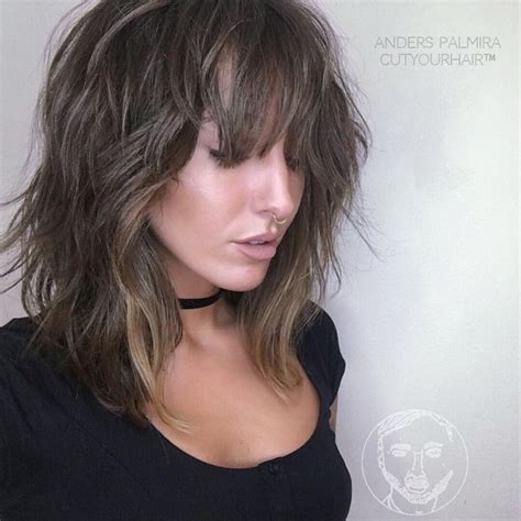 curly lob with bangs hair color ideas and styles for 2018 17 best images about hair on pinterest brunette haircut