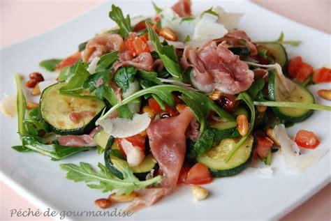 comment cuisiner des tomates s馗h馥s salade de courgettes aigres douces au jambon cru p 233 ch 233