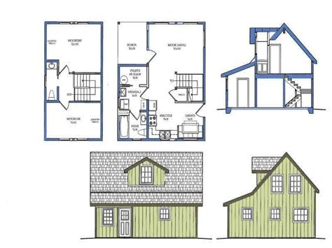 tiny house blueprints very small house plans