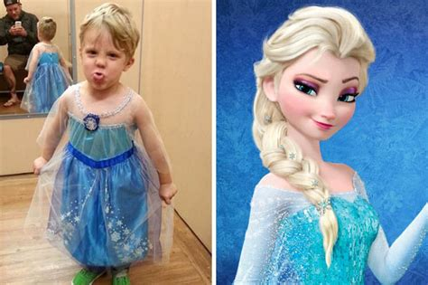 film elsa va ana frozen fun paul henson s great response as son asks to be