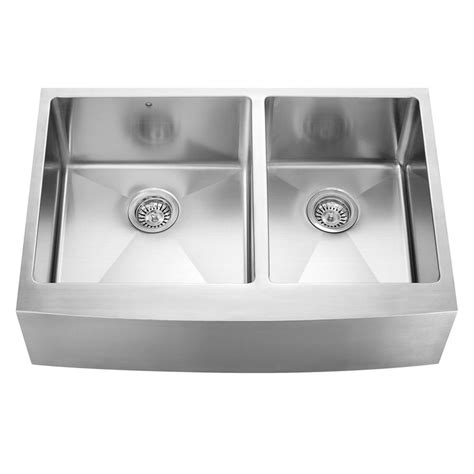 apron front bowl kitchen sink vigo farmhouse apron front stainless steel 33 in