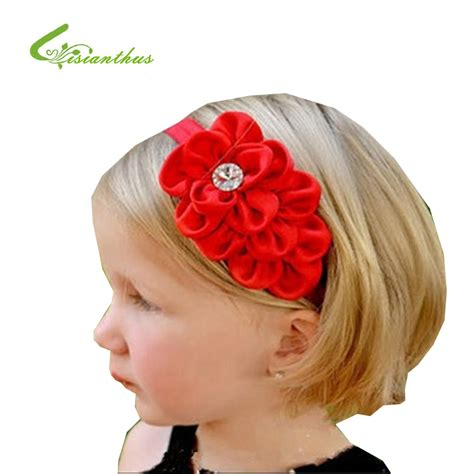 moq 1pc new style rhinestone headband hairband baby flowers headbands hair