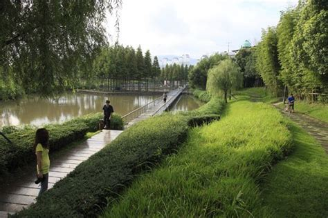 The Floating Gardens Yongning River Park Taizhou City River City Landscaping