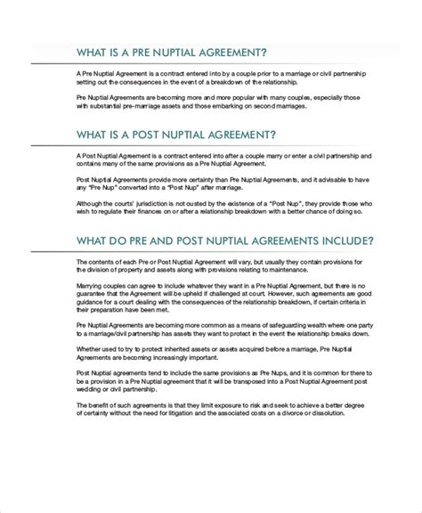 post nuptial agreement uk template fantastic prenuptial agreement template uk photo resume