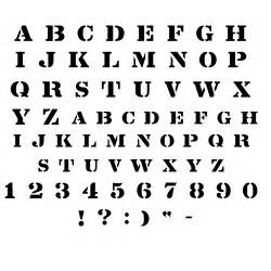Free Letter Font Templates by Stencil Font Stencil