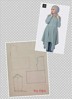 Baju Tangan Panjang Skater pola lengan cara ukuran baju kurung moden jubah blaus sewing baju kurung