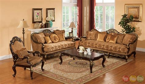traditional living room sets patricia dark wood formal living room sets with carved