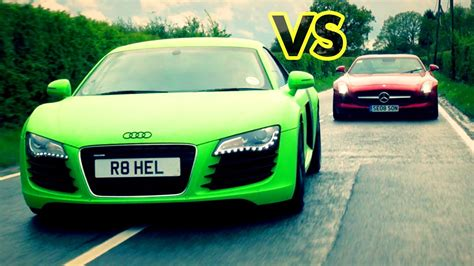 Audi Sls by Car Battle Audi R8 Vs Mercedes Sls Amg