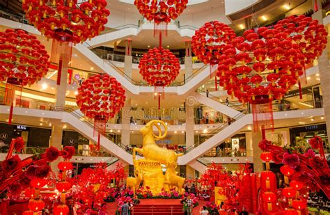 pavilion kl new year 2015 new year decoration in kl pavilion editorial stock