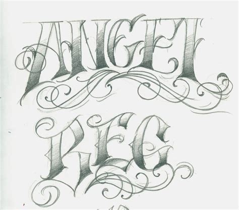 angel tattoo lettering tattoo images by marianne o neal