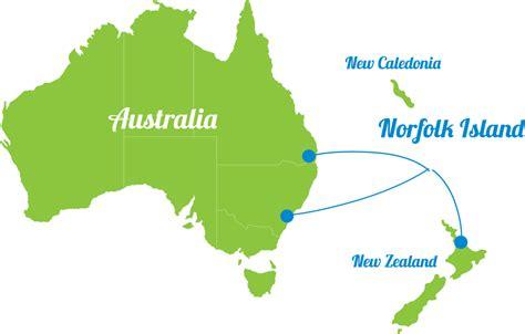 norfolk island map where is norfolk island