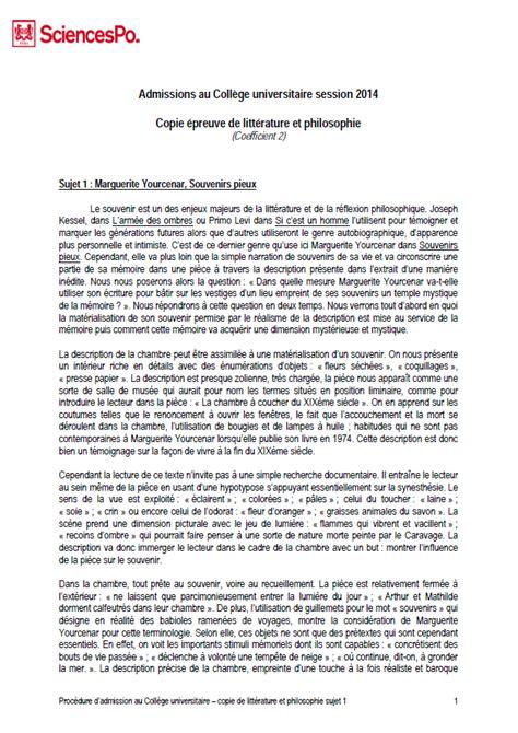 Lettre De Motivation Anglais Sciences Po Litt 233 Philo Sosciencespo Aide Conseils