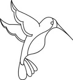Hummingbird Outline Picture by Hummingbird Clipart Image Clip Illustration Of An Outline Of A Hummingbird