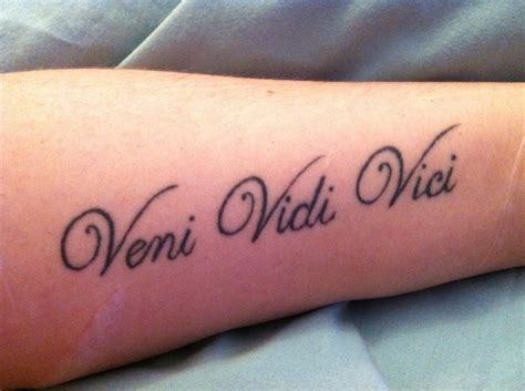 tattoo fonts latin quote said by julius caesar in 47 b c it