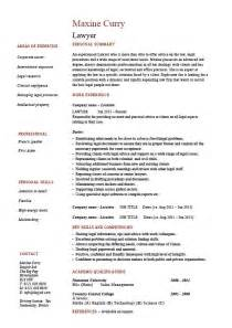 Application Cv Template by Lawyer Cv Template Curriculum Vitae