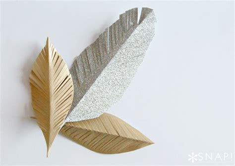 How To Make A Paper Feather - diy paper feathers tauni co