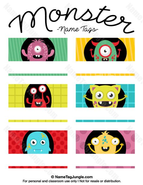 printable monster name tags free printable monster name tags the template can also be