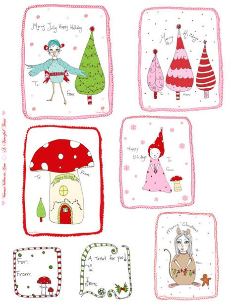 printable christmas tags funny free tutorials printables treats ideas christmas
