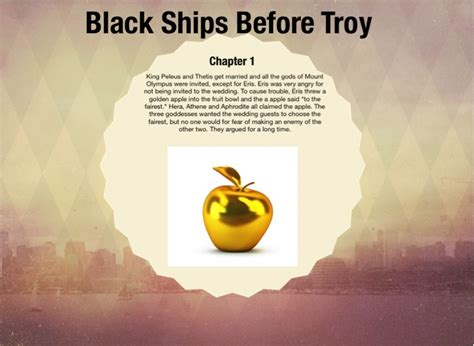 Themes In Black Ships Before Troy | black ships before troy on flowvella presentation