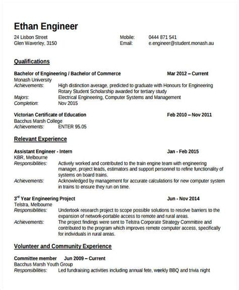 lecturer resume sle for freshers fresher lecturer resume templates 5 free word pdf