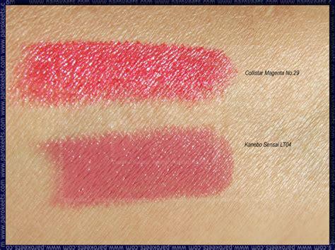 Lipstik Kanebo kanebo sensai lipstick swatches the of