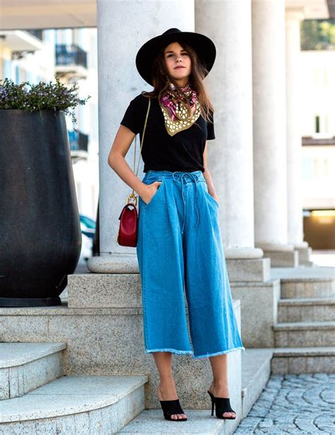 Cut Culottes Kulot Wanita Zara 50 best how to wear culottes casual ideas images