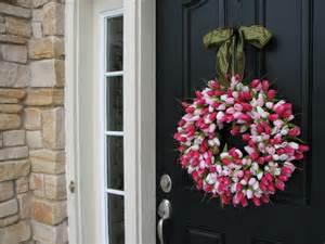 Wreaths For Front Doors Wreath Tulips Front Door Wreath Door Wreaths By Twoinspireyou