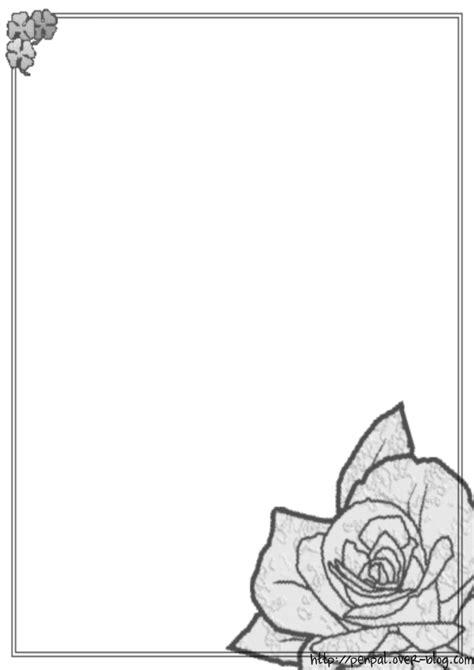 gabarit papier à lettre noir et blanc à imprimer gratuitement
