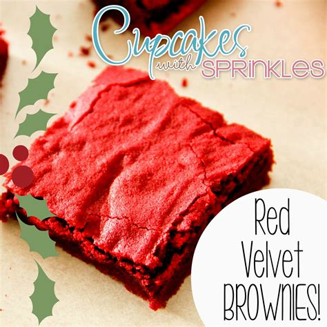red velvet holiday brownies sawdust and embryos