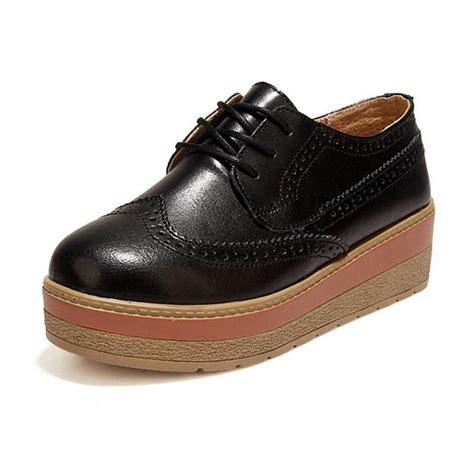 brand flat shoes popular black brogues buy cheap black