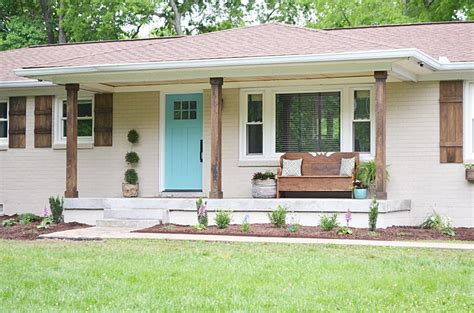 wooden porch posts and columns the rickety brick house the 4 changes that made this home s exterior