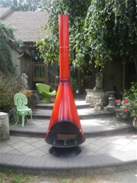 mid century modern orange wood burning fireplace 60