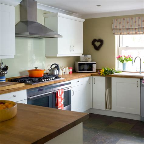beech wood and white kitchen kitchen decorating ideas ideal home