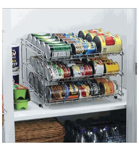 Canned Food With Shelf by Deluxe Chrome Canned Food Storage Rack Style