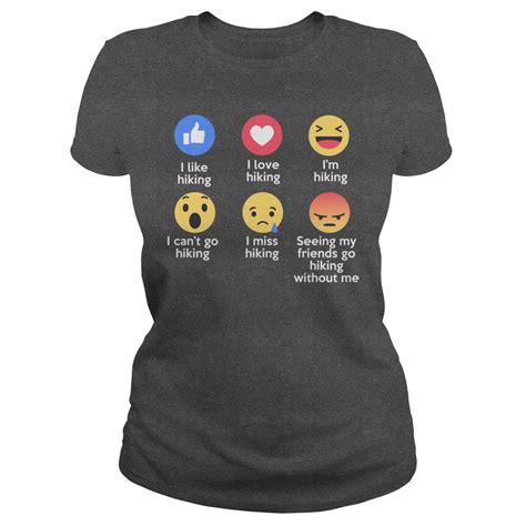 design a shirt with emojis love hiking emojis emoticons funny t shirt designs