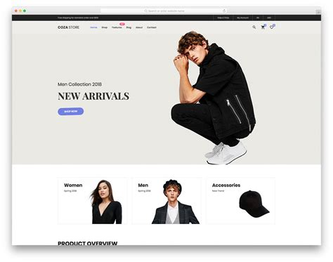 20 Best Free Fashion Website Templates With Vogue Design 2018 Fashion Store Website Templates