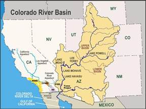 colorado river drainage map march 2014 geography