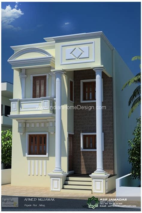 desing home 1600 sqft 2 floor box type house design