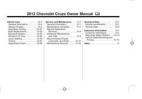 service repair manual free download 2012 chevrolet cruze on board diagnostic system 2012 chevy cruze owner s manual baltimore maryland