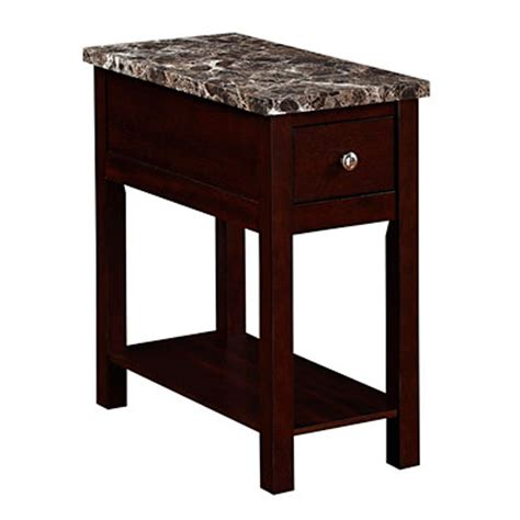 big lots faux marble espresso finish faux marble chairside table big lots