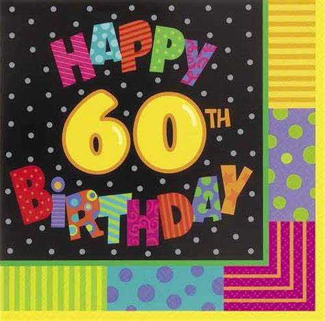 backdrop design for 60th birthday infinite birthday 60th party napkins in packs of 16