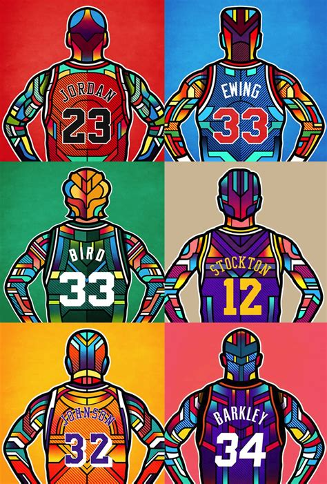 basketball pop art paintings j1523 michael jordan larry bird basketball mvp star pop
