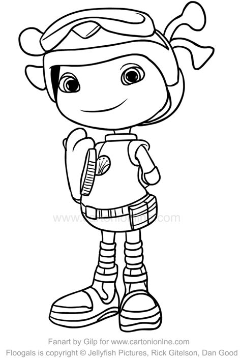Drawing Flo (Floogals) coloring page