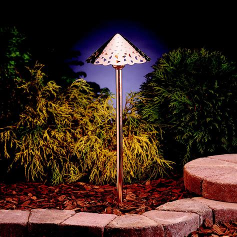 copper landscape lighting kichler 15843co landscape led 22 inch copper outdoor